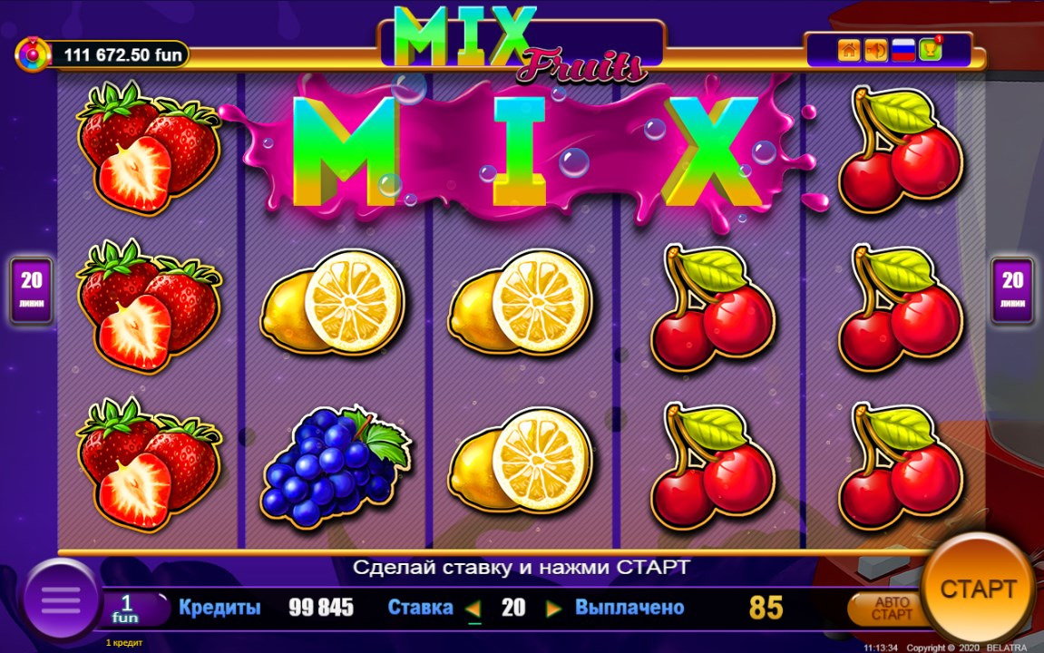 mix fruits new online slot belatra games ru